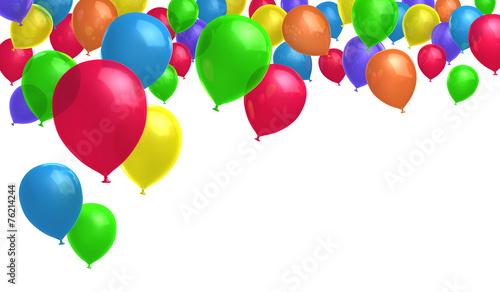 canvas print picture Gruppe bunter Luftballons