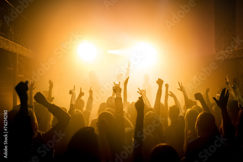 canvas print picture Group of people enjoying a concert