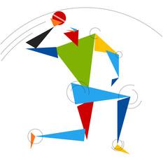 Cricket Bowler Vector Art