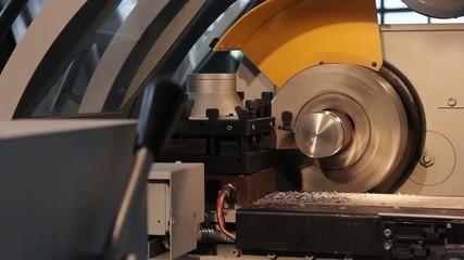 turning machine the workpiece with the program