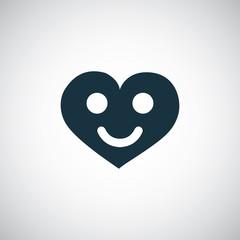 heart smile icon