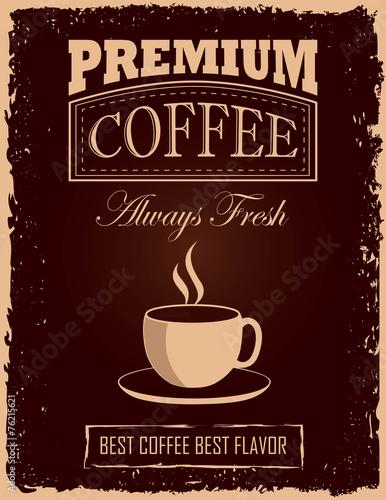mata magnetyczna Vintage plakat kawy