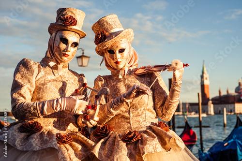 Leinwanddruck Bild Carnevale Venezia