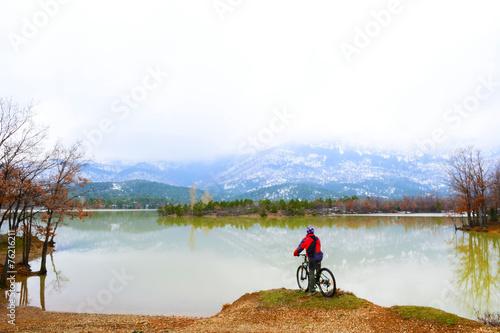 Fototapeta doğa için pedallamak
