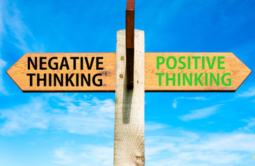 Negative versus Positive Thinking messages