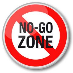 No-go zone sign