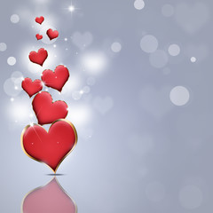 Red Lovely Hearts