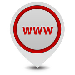 www pointer icon on white background