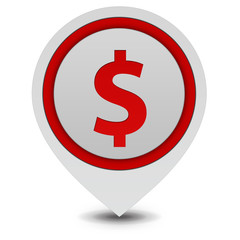money pointer icon on white background