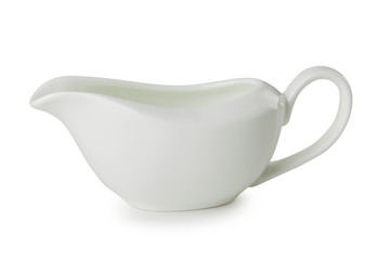 Gravy boat isolated on a white background