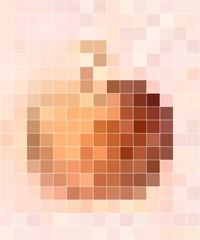Apple motif mosaic in pastel colors