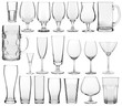 empty glasses set - 76218871