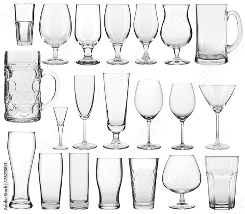 Leinwandbild Motiv empty glasses set