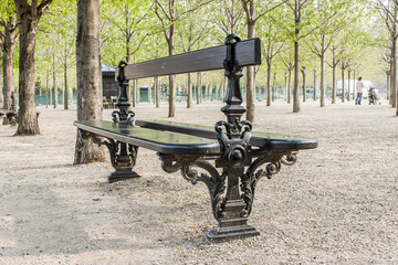 Paris, France. Spring day in the Luxembourg garden
