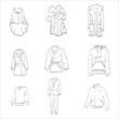 outerwear fur coat vector