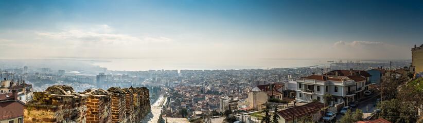 Panorama of Thessaloniki City, High Detail Large Image.