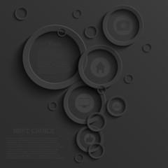 Vector modern black infographic background