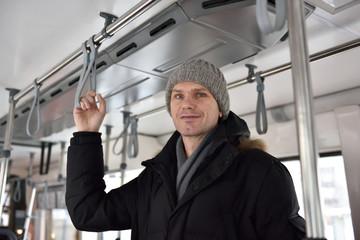 Man in a tram