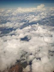 Vista de nubes desde avión