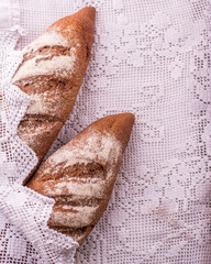 french bread baguette on