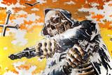 Skeleton Gangster in Colour