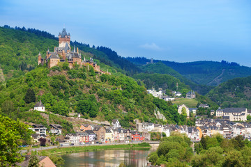 Panorama of Cochem with Imperial castle