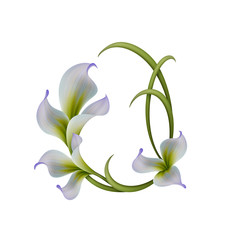 abstract feaster floral frame illustration
