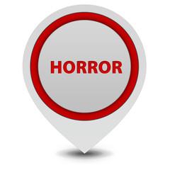 Horror pointer icon on white background