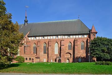 Koenigsberg Сathedral on Kneiphof island. Kaliningrad (former K