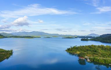 Aerial view of big lake
