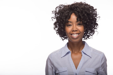 Young African American black woman smile happy face