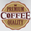 Coffee premium quality retro label, vector illustration
