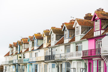 Pretty terrace houses in Whitstable
