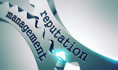 Reputation Management Concept on the Cogwheels.
