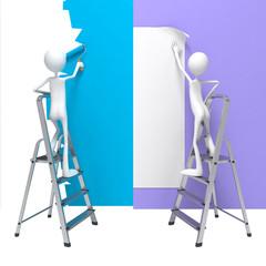 Renovation Concepts - Set of 3D Illustrations.