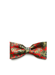 Red bow-tie on white