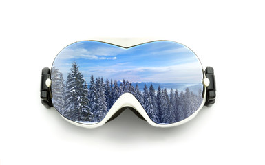 Ski glasses isolated on white