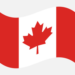 Background Flag of Canada on a gray background