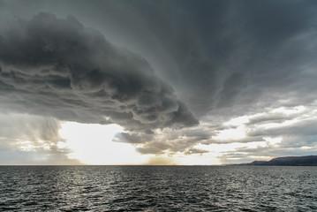 Stormy sky over Lake Titicaca, Peru