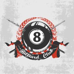 Grunge billiard background