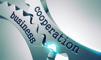 Business Cooperation Concept on the Cogwheels.
