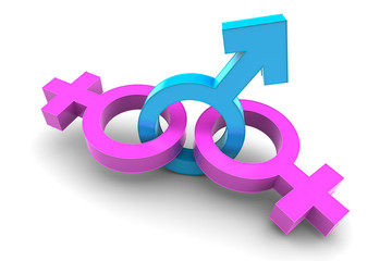 Two Female and Male gender symbol