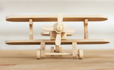 wooden plane model