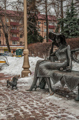 "Sculpture ""The Stranger"". Ramenskoye, Moscow region"