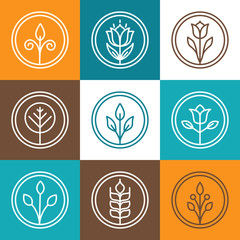 Set of nature badges