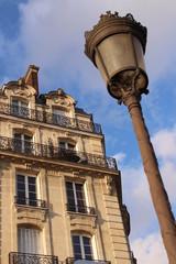 Building and lantern in Paris