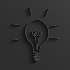 Vector modern light bulb background.