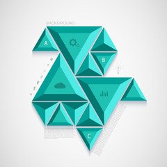 Vector modern triangle infographic design.