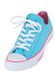 Vintage blue shoe isolated on white background