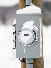 Smart electric meter box
